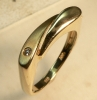 Ring Gold 585 mit Brillant, eckiges Design, Gr 57