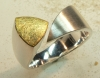 Ring Silber Gold 900, Triangelform